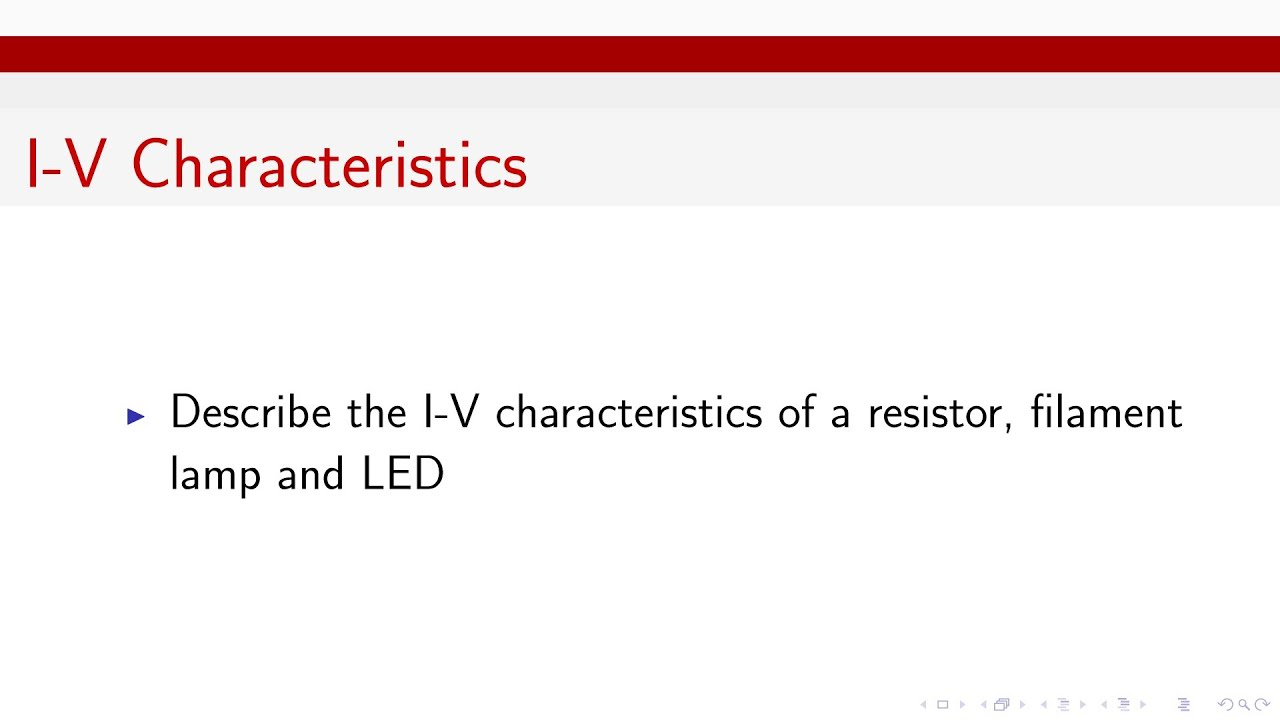 Iv Characteristics For Resistor Filament Lamp And Led