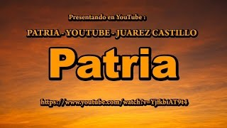 Patria (with text in English)