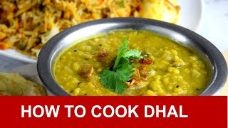 Dhal - How to cook dhal in 3 simple steps