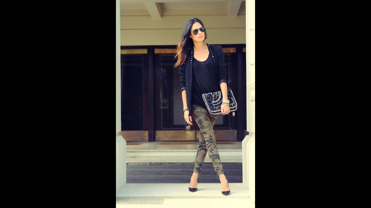 Womens Camouflage Skinny Jeans