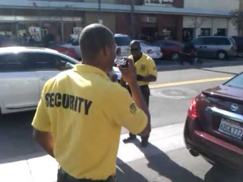 Walmart Security Guards Harass Protesters - YouTube