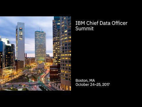 #IBMCDO IBM Chief Data Officer Strategy Fall 2017 Strategy Summit