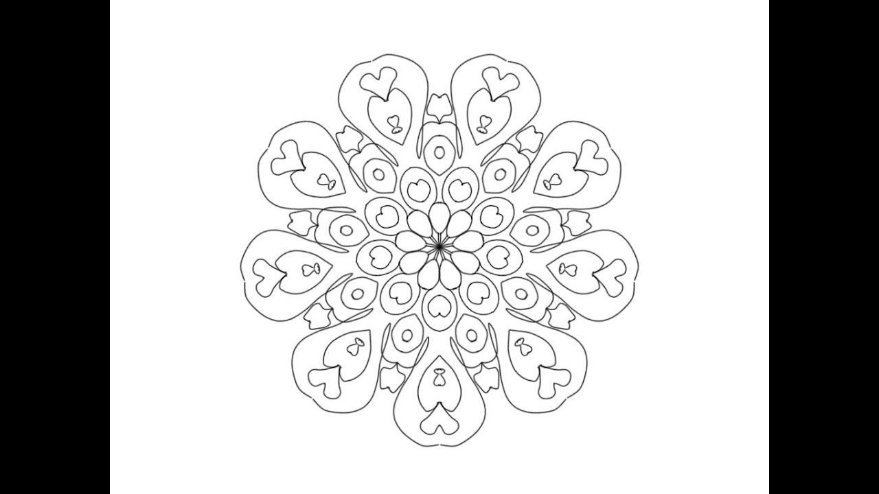 Hvordan tegner man Mandala på computer med Musen Metermål