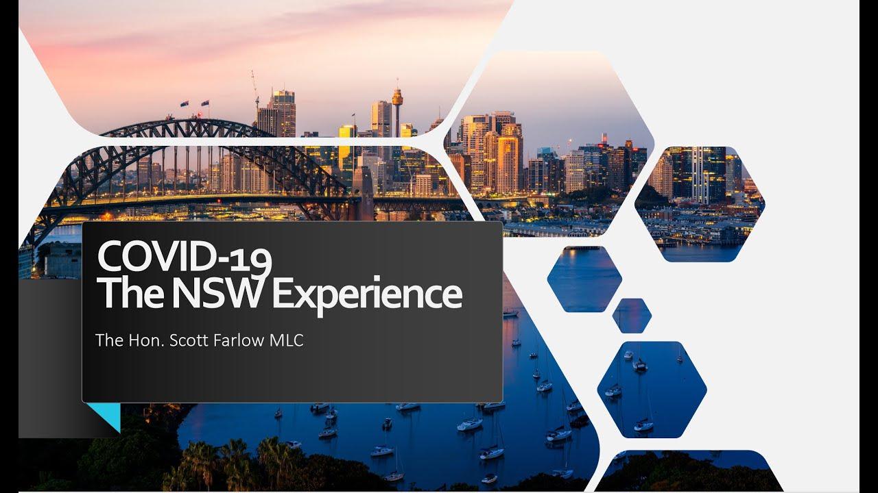 """專題演講---""""The overview of NSW government plan and supporting the road to recovery post COVID19."""""""