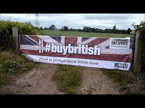 NFU Buy British banner. Farming Delivers