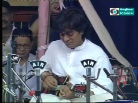 Shri U Srinivas Shri U Rajesh with Shri AK Palanivel and Ustad Zakir Hussain