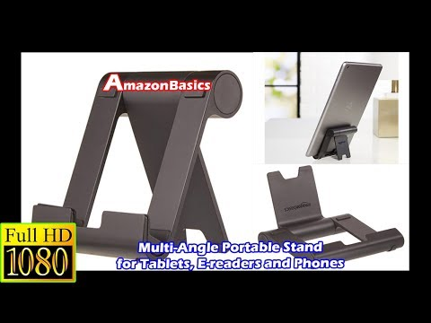 AmazonBasics Multi-Angle Portable Stand for Tablets, E-readers and Phones Unboxing & review   #HD  