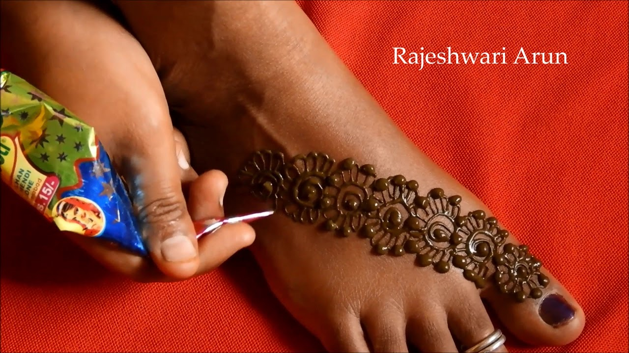 mehndi design for leg easy and simple