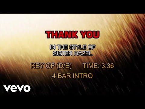 Sister Hazel - Thank You (Karaoke)