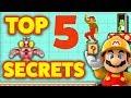 Super Mario Maker - TOP 5 SECRETS [EASTER EGGS] + BONUS Tips!