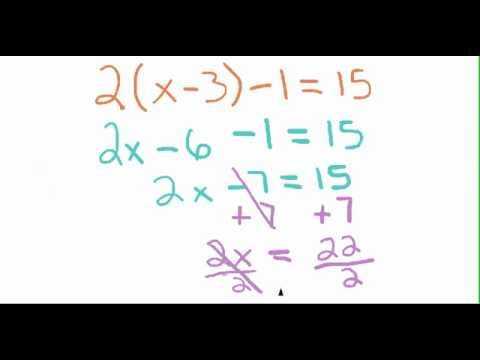 How to Solve a Simple Equation with Reverse PEMDAS Method - YouTube