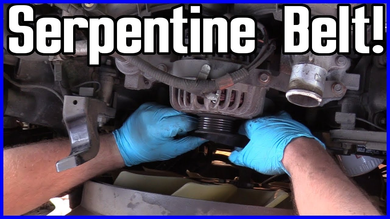 small resolution of serpentine belt replacement ford f 150 5 4l v8 2004 2008