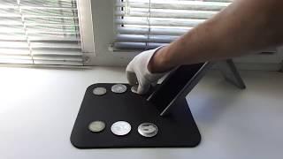 Проверяем подлинность серебряных монет на Слайдере.