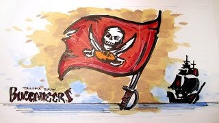 NFL Football Series:  Tampa Bay Buccaneers Time Lapse Drawing