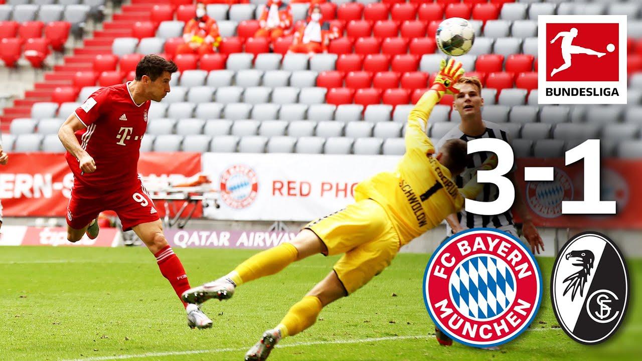 FC Bayern München vs. SC Freiburg I 3-1 I Lewandowski Now with 33 Goals