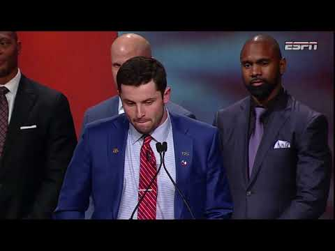 [FULL] Baker Mayfield 2017 Heisman Trophy acceptance speech | ESPN