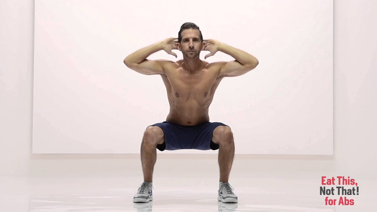 How To Do A Squat With Bicycle Crunch Youtube