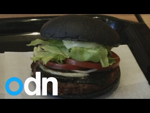 Burger King in Japan has unveiled a new black burger
