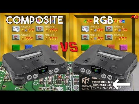 Nintendo 64 FRA RGB / EUR Composite : la comparaison