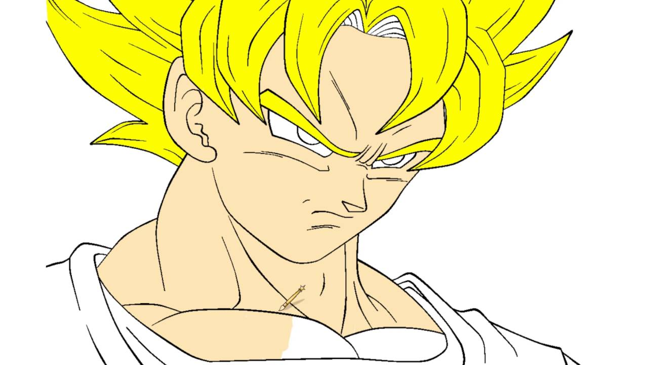 dragon ball coloring page with son goku youtube