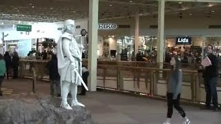 Funny Statue Prank! Don't look Too Hard!