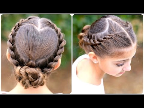 Hairstyle Video On Youtube : Rope Twisted Heart Cute Girls Hairstyles - YouTube