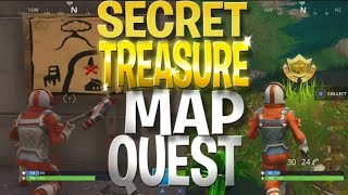 FREE Battle Stars Location! Dusty Depot Treasure Hunt- Fortnite Treasure Quest Challenge