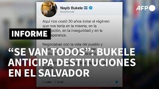 Bukele anticipa más destituciones en El Salvador pese a reclamo internacional | AFP