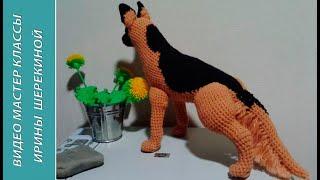 Німецька вівчарка, 3 ч.. German Shepherd, р. 3. Amigurumi. Crochet. Амігурумі. Іграшки гачком.