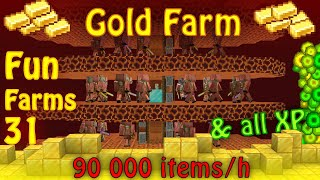 Simple yet Powerful Gold Farm for Minecraft [Fun Farms 31]