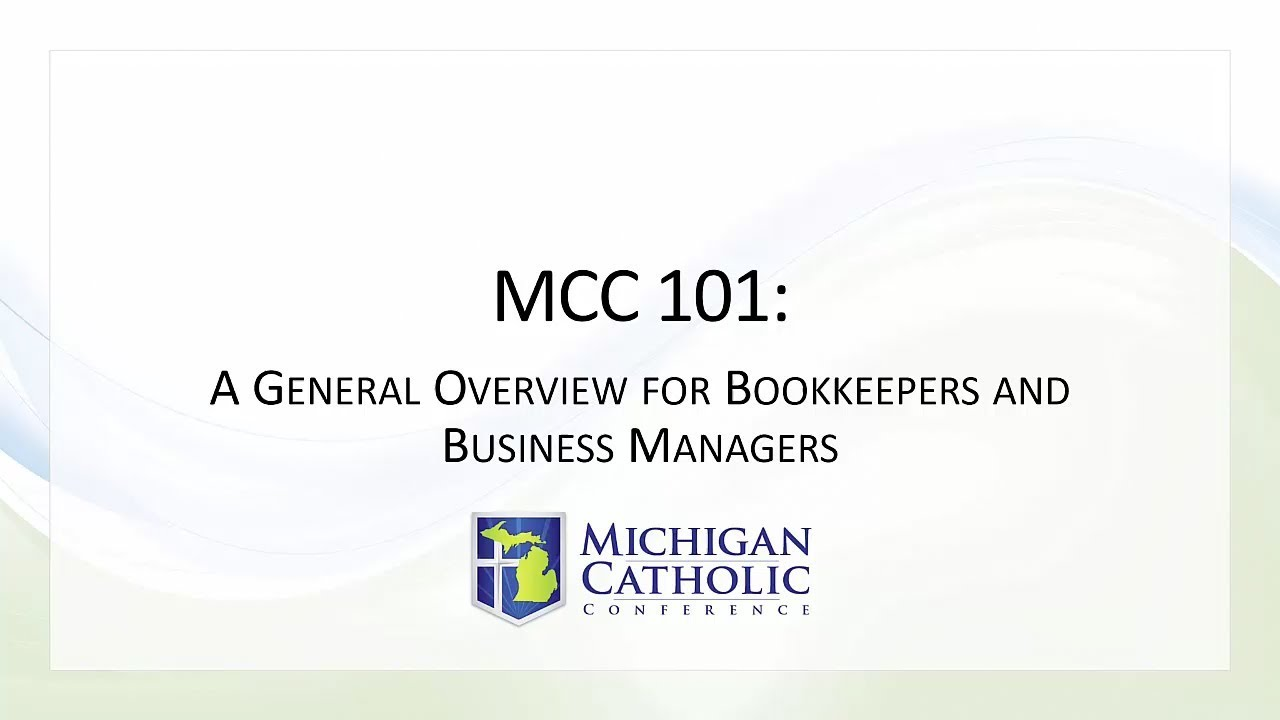 Bookkeepers Toolkit Michigan Catholic Conference