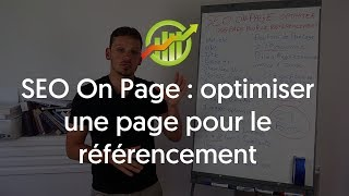 SEO On page   optimiser une page pour le referencement