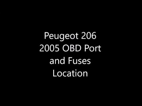 Peugeot 206 OBD and Fuses Location - YouTube