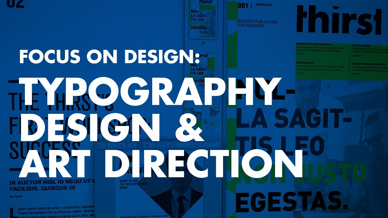 Graphic Design Tutorial: Typography Design & Art Direction ...