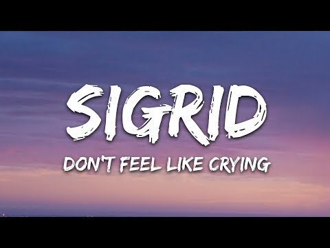 Sigrid - Don't Feel Like Crying (Lyrics)