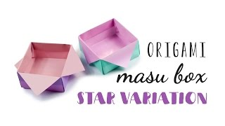 Origami Masu Box - Star Variation Tutorial ♥︎ DIY ♥︎ Gift Box ♥︎ Paper Kawaii