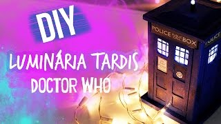 Diy Tardis Doctor Who Luminária (tardis Lamp)