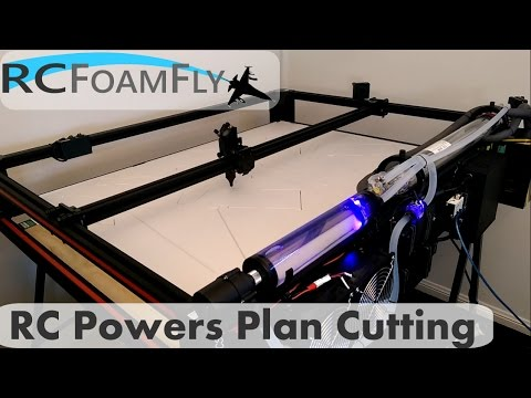 Laser Cutting RCPowers Plan from 6mm Depron foam - YouTube