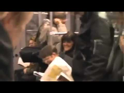 Berlin u-bahn lustige video ladys and german people in subway /  funny laugh/ WAS GUCKST DU!