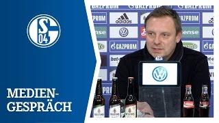 Breitenreiter und Kramny nach FC Schalke 04 vs. VfB Stuttgart (1. Bundesliga, 2015/16)