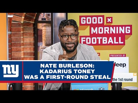Nate Burleson: WR Kadarius Toney is the BIGGEST Steal of the First-Round | New York Giants