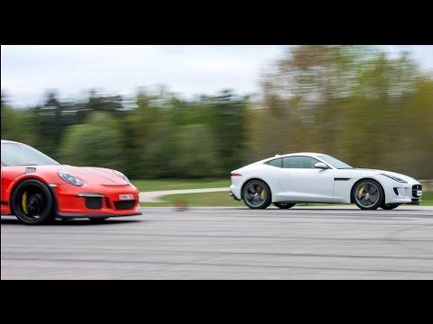 [4k] Porsche 991 GT3 RS PDK vs Jaguar F Type R in Ultra HD