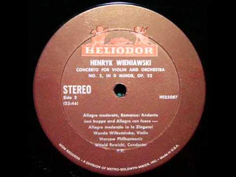 Wieniawski / Wanda Wilkomirska, 1969: Violin Concerto No. 2, Op. 22 - Rowicki, Warsaw Philharmonic