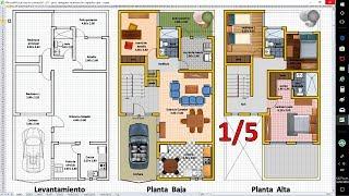 1/5 Planos de Casas con Excel. Anteproyecto de Ampliación.