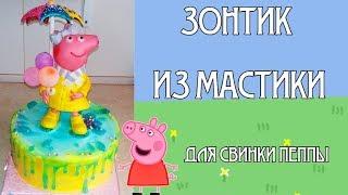 Как сделать яркий зонтик из мастики. Детский торт