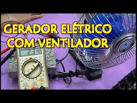 110d1d40b84 GERADOR EÓLICO FEITO COM VENTILADOR - YouTube