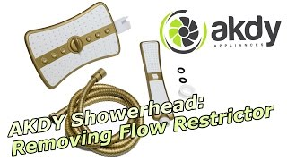 AKDY Showerhead: Removing Flow Restrictor [How-To]