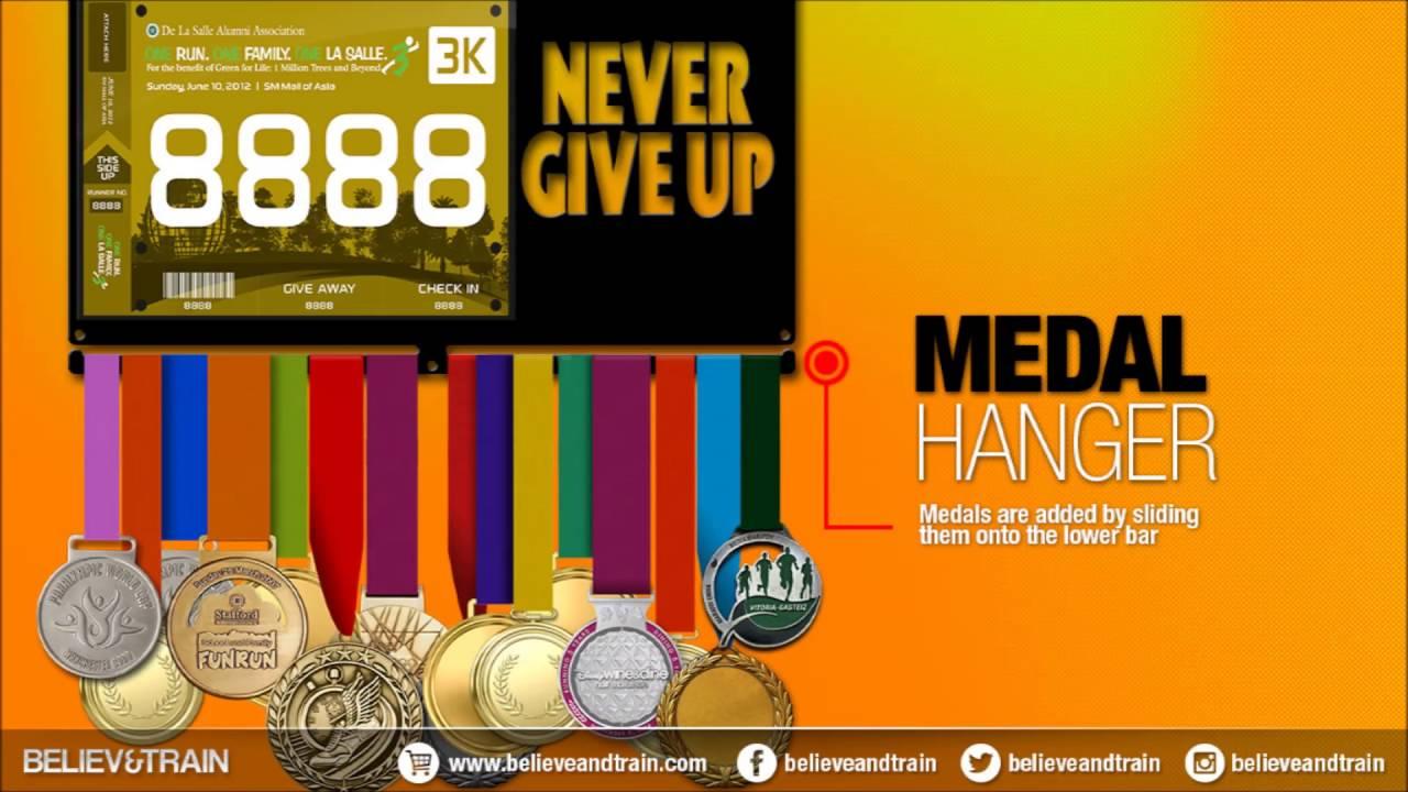 Medal Hanger - Bib Holder - YouTube
