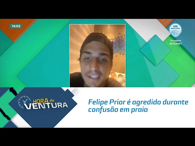 Felipe Prior é agredido durante confusão em praia do Litoral Paulista