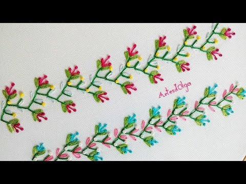 Hand Embroidery: Decorative Stitches #9   Bordado A Mano: Puntadas Decorativas #9   Artesd'Olga